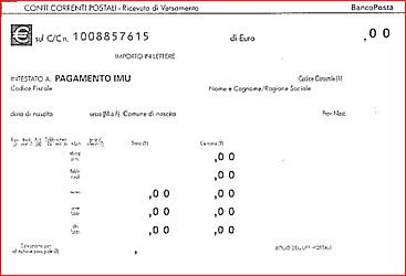 Versamento Imu, approvato il conto corrente postale pagabile anche online. Ecco il bollettino