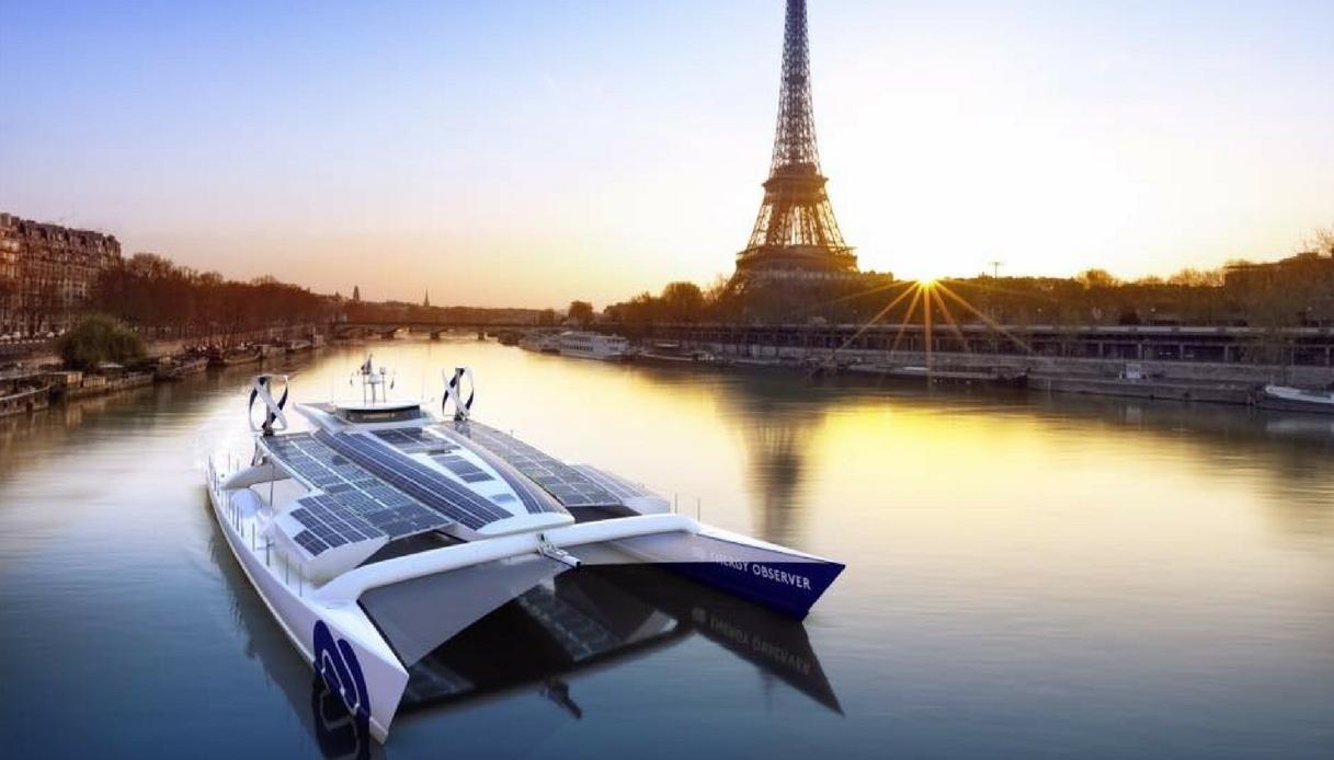 Energy Observer catamarano green che gira il mondo