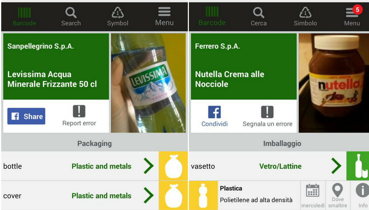 Junker app differenziata