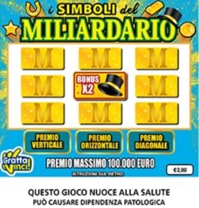 nuova lotteria simboli del miliardario