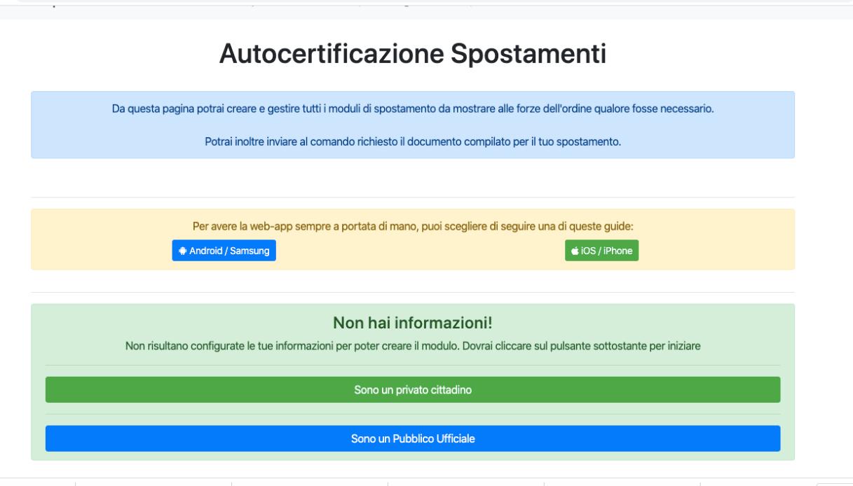 app autocertificazione 1