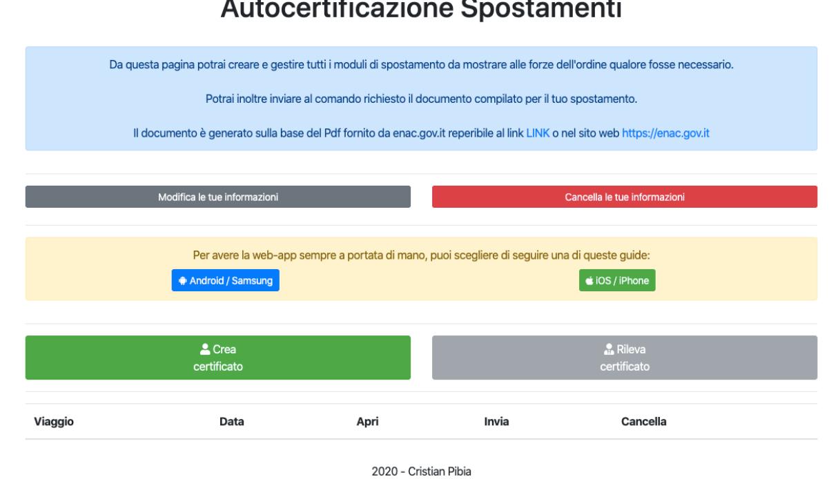app autocertificazione 5