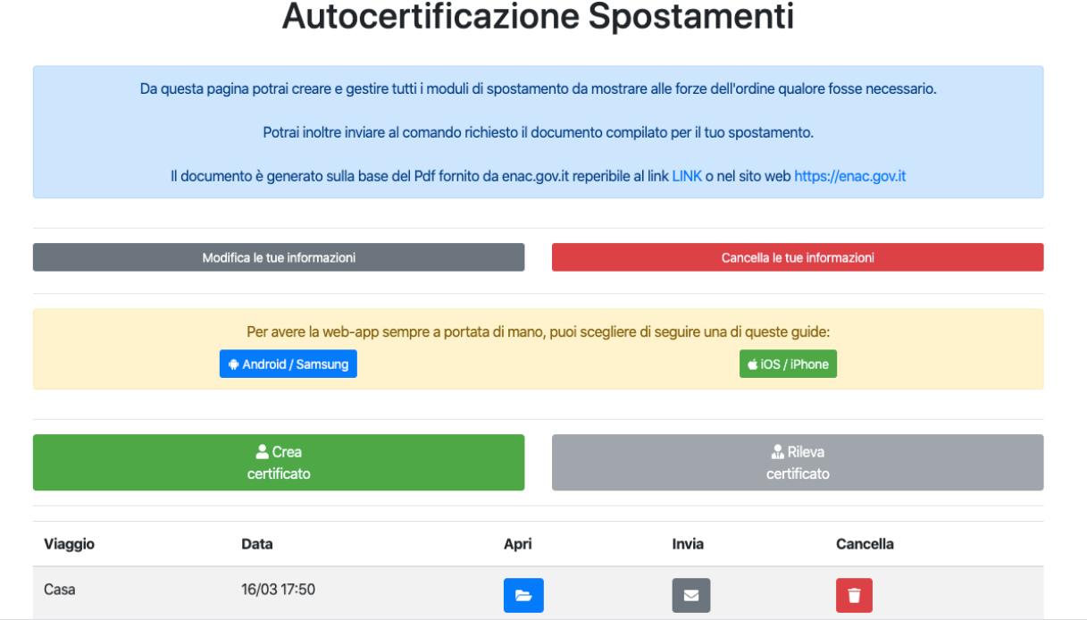 app autocertificazione 7