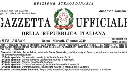 """Decreto """"Cura Italia"""": il testo punto per punto in Gazzetta Ufficiale"""