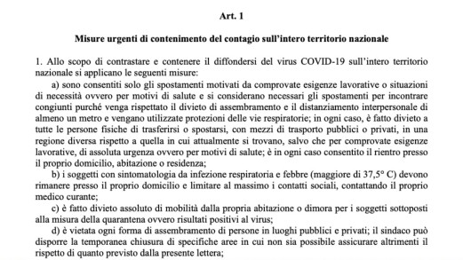 Decreto 26 aprile in Gazzetta ufficiale: la versione integrale in pdf