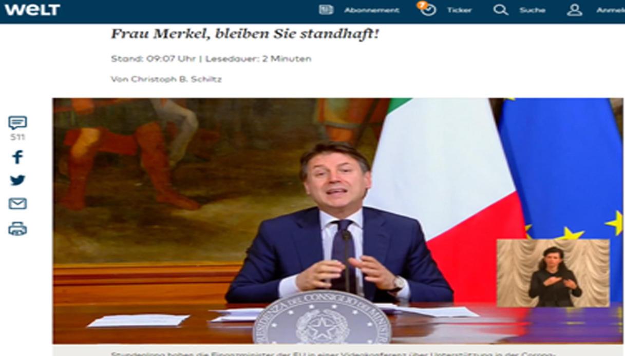 Die Welt fondi europei Germania Italia mafia Eurogruppo Eurobond