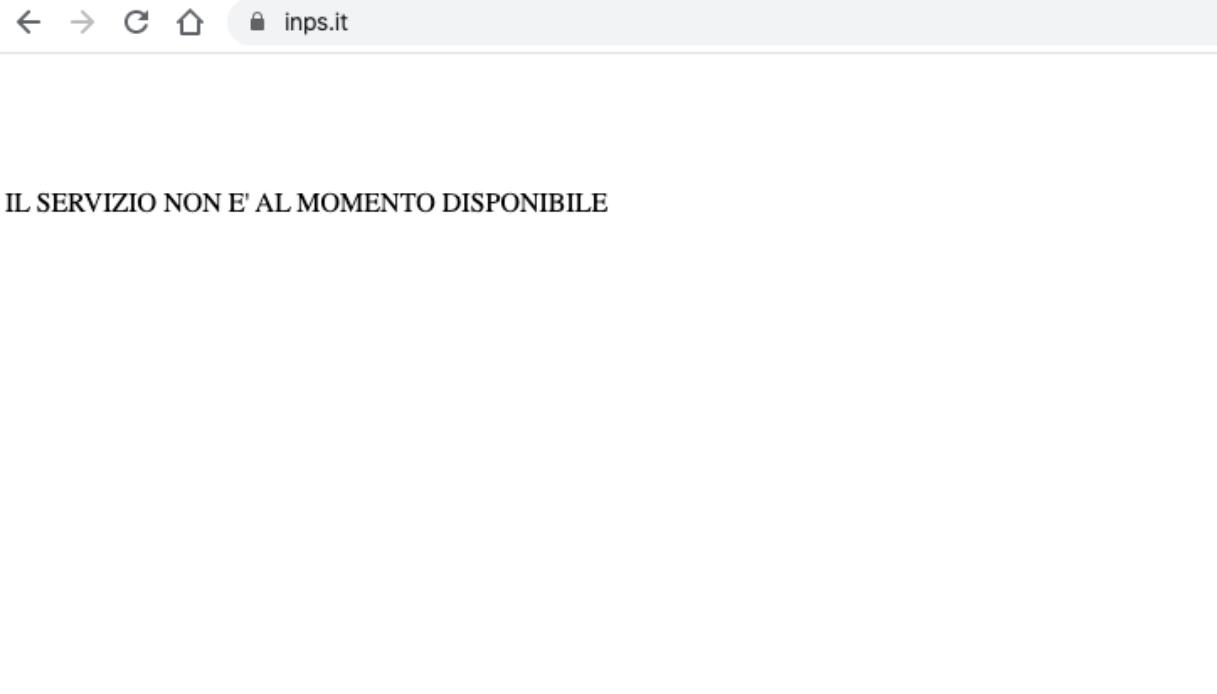 sito inps non disponibile