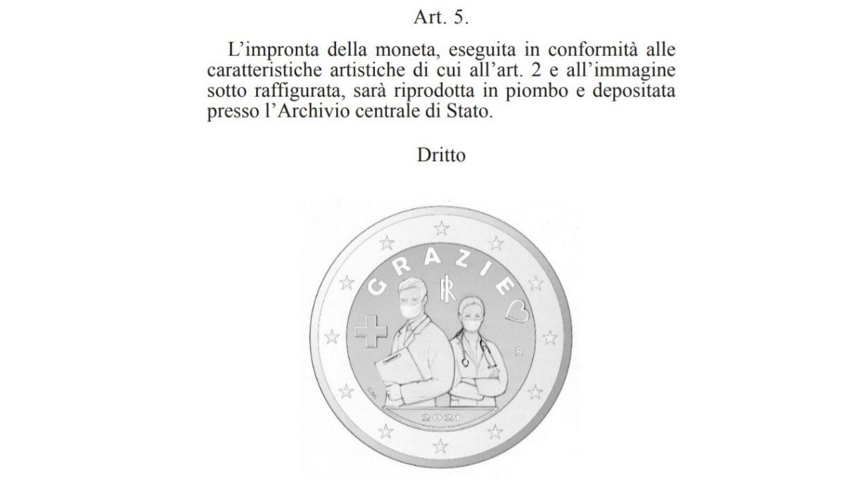 Moneta da due euro medici e infermieri