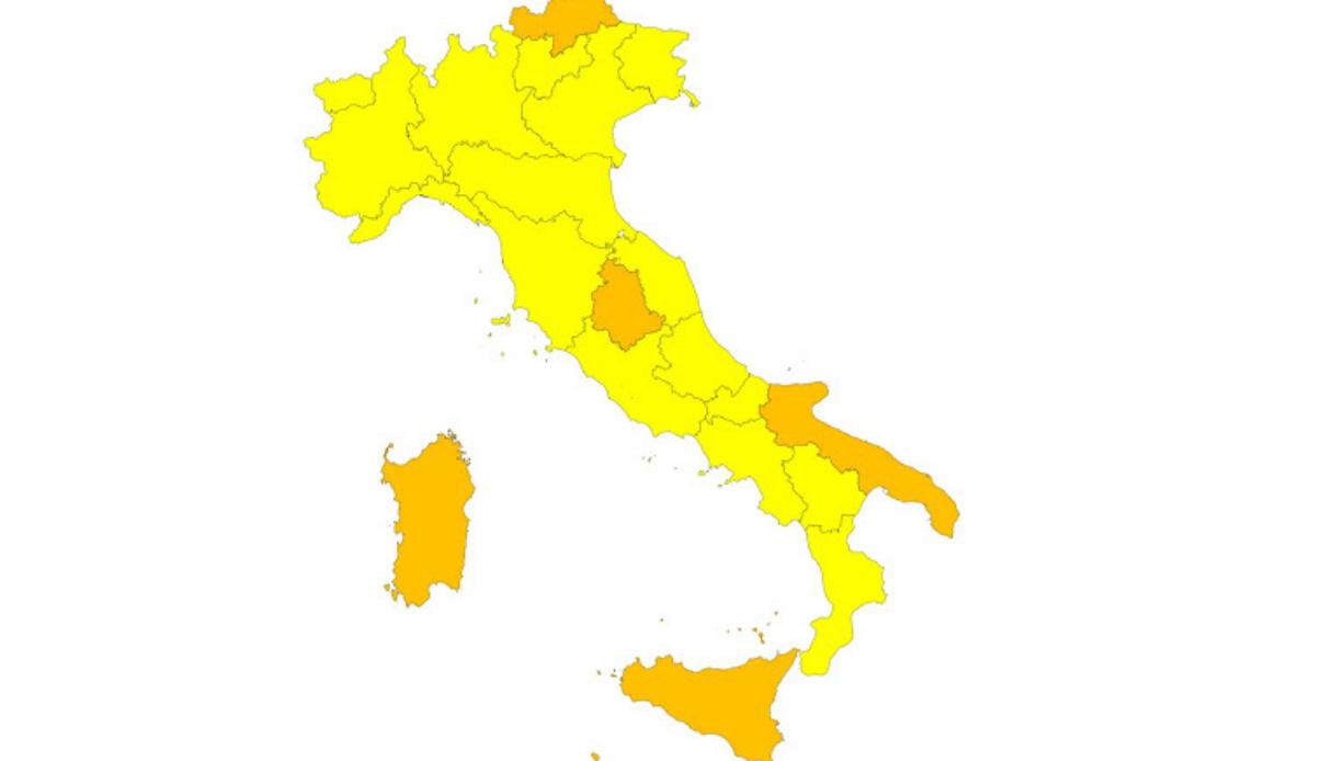 zona gialla regioni 1 febbraio 2021