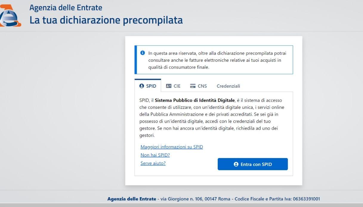 Accesso 730 Precompilato, sito Agenzia delle Entrate