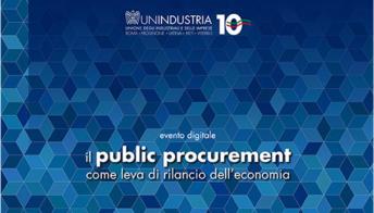 """Imprese, Unindustria: """"Il public procurement come rilancio e trasformazione dell'economia"""""""